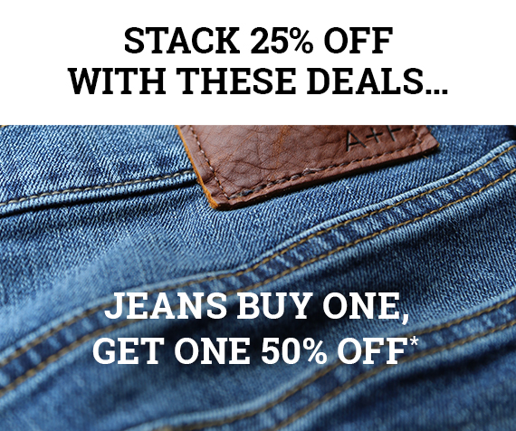 All Jeans Buy One Get One 50%*