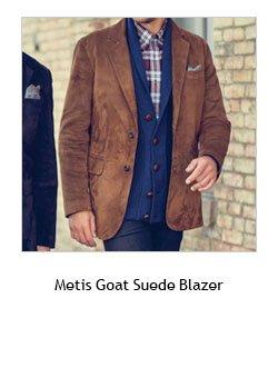 Metis Goat Suede Blazer >