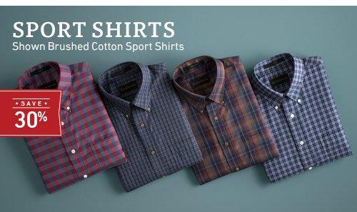Sport Shirts - Save 30% >