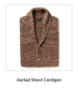Marled Shawl Cardigan >