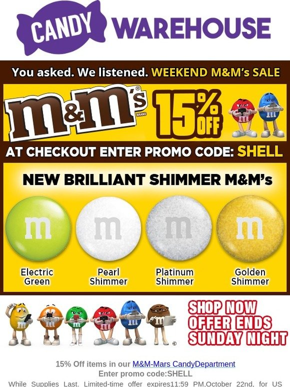 CandyWarehouse com: Sale on M&Ms | Milled