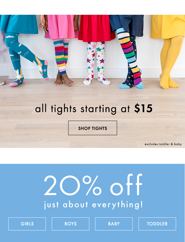 twenty percent off just about everything