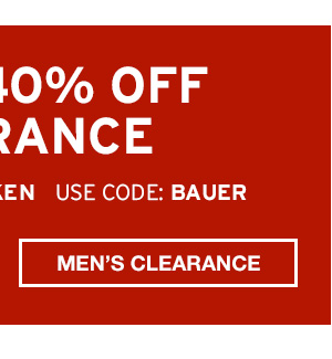 EXTRA 40% OFF | SHOP MEN'S CLEARANCE
