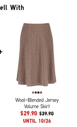 Women Wool-Blended Jersey Volume Skirt - $29.90