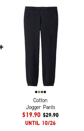 Men Cotton Jogger Pants - $19.90