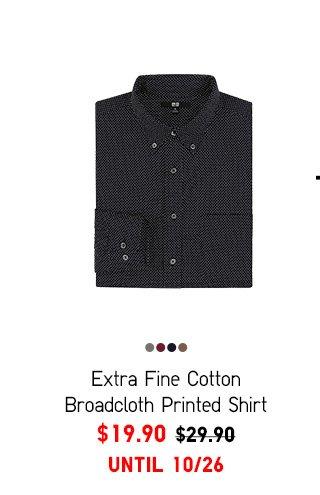 Men Extra Fine Merino Broadcloth Printed Shirt $19.90