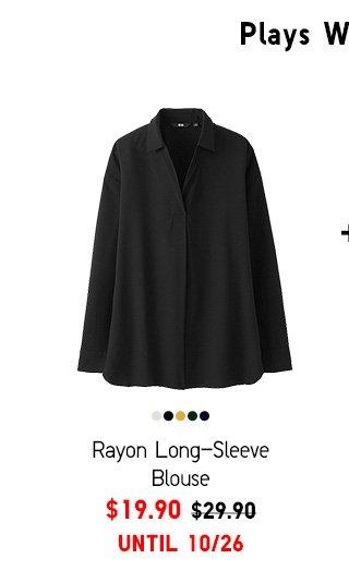 Women Rayon Long -Sleeve Blouse $19.90