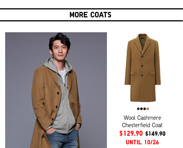 Men Wool Cashmere Chesterfield Coat $129.90 - Shop Now