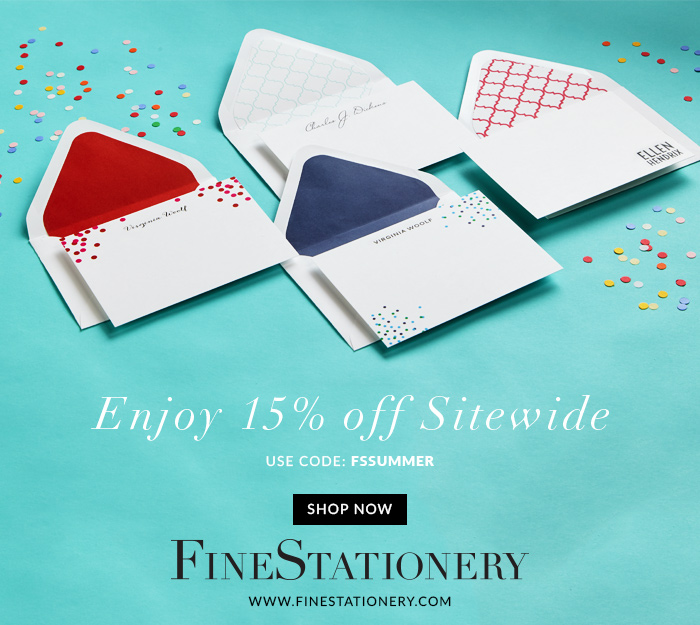 Shop at Fine Stationery and Save 15%!