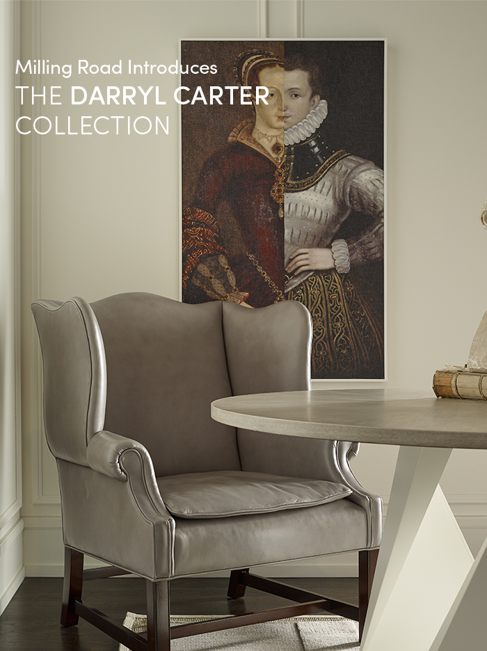 Baker architectural historical and crafted elements for Darryl carter furniture collection