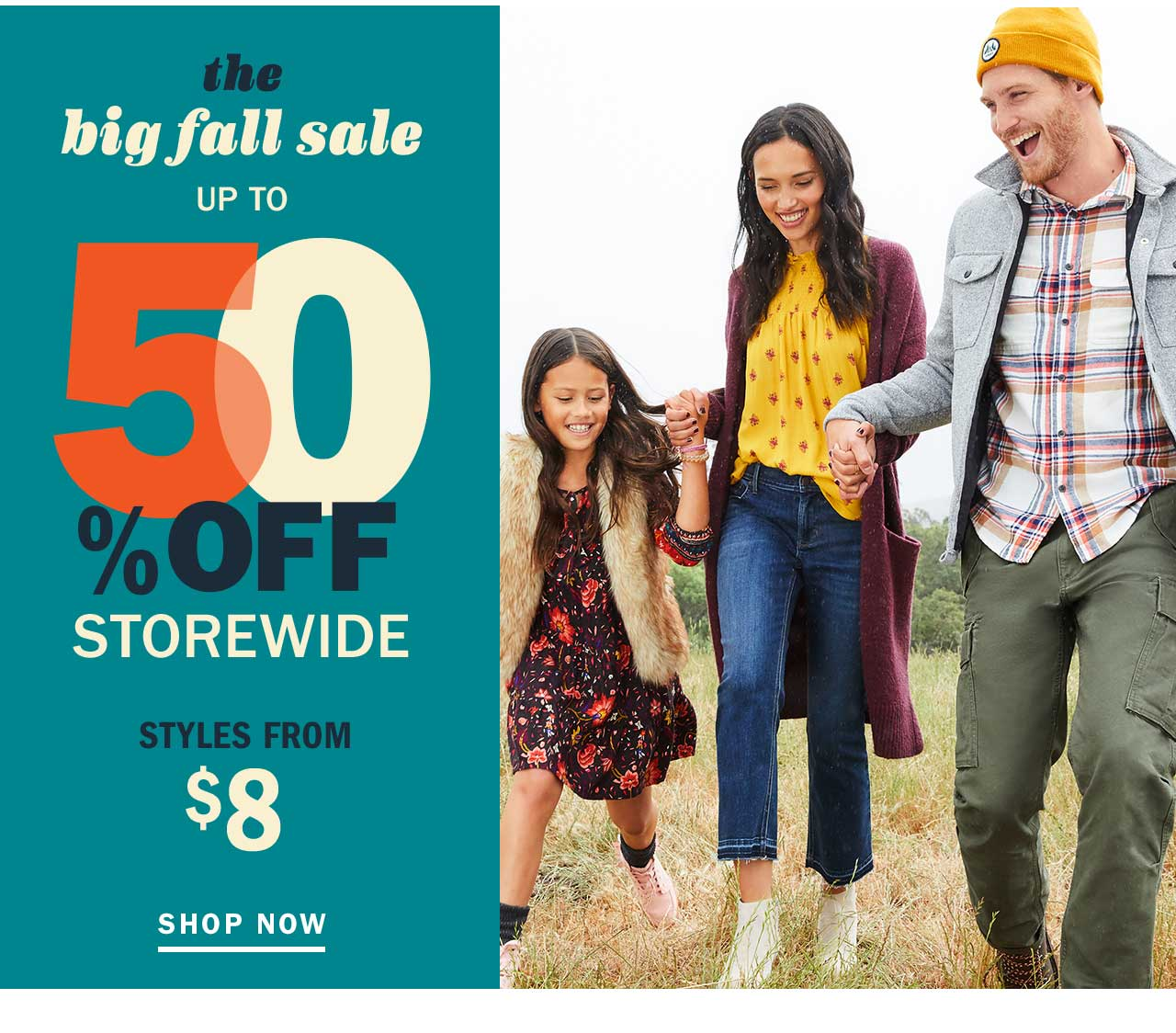 UP TO 50% OFF STOREWIDE | STYLES FROM $8 | SHOP NOW