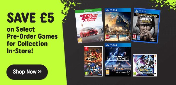 Smyths Toys Exclusive Pre-order Discount on Select Video Games