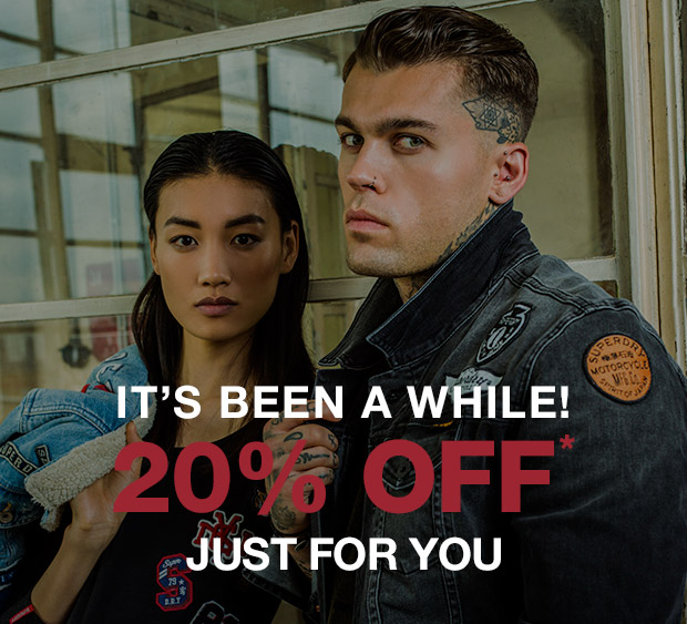 It's Been A While: 20% OFF Just For You.