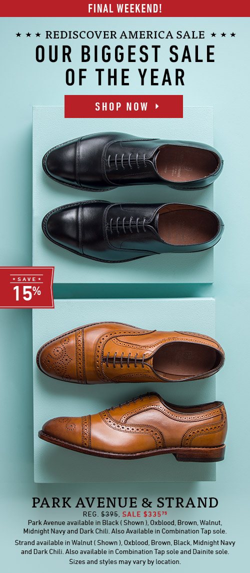 Final Weekend! Rediscover America Sale. Our Biggest Sale of the Year. Park Avenue & Strand - Sale $335.75 >