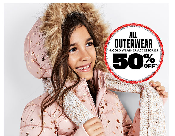 All Outerwear & Cold Weather Accessories 50% Off