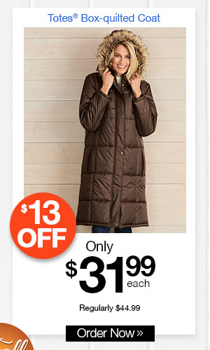 Totes Box-quilted Coat
