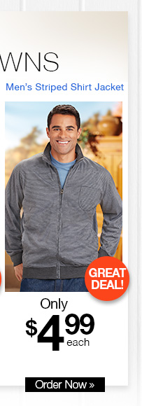 Striped Shirt Jacket