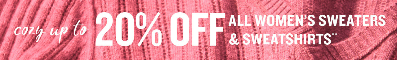 Cozy Up To 20% Off