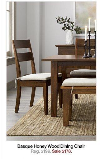 Basque Honey Wood Chair