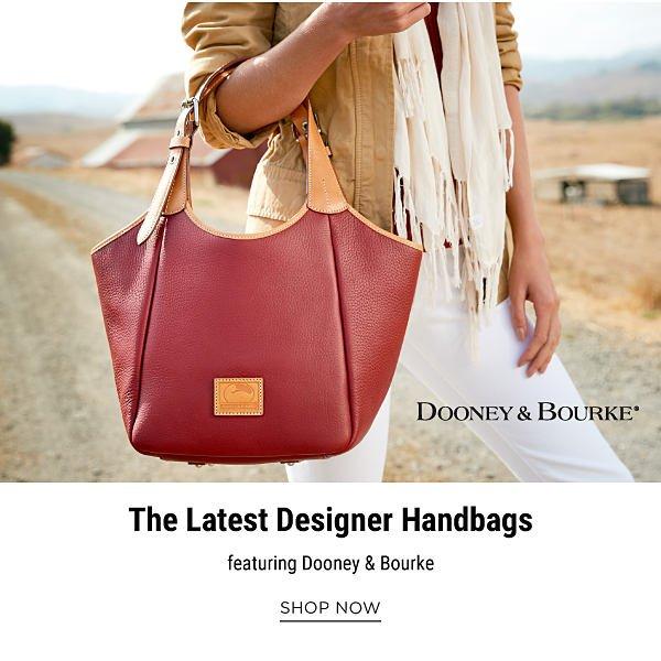 The Latest Designer Handbags, featuring Dooney & Bourke. Shop Now.