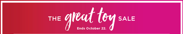 $10 off when you spend $50 or more on toys. Promo code TOY10. Select styles. Ends October 22. Get pass for details and exclusions.