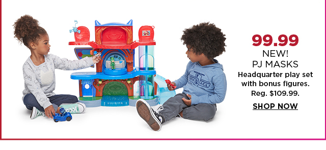 $99.99 new pj masks headquarter playset with bonus figures. Regularly $109.99. Shop now.