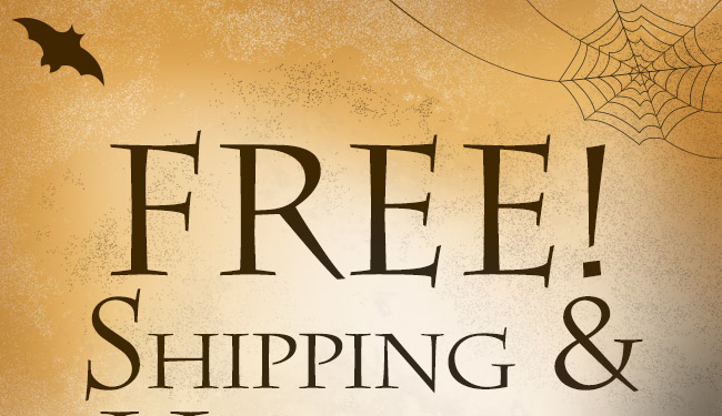 Free Shipping & Handling on Orders Over $30*