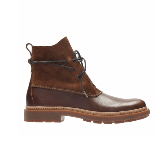 Trace Dusk Mahogany Leather Boot, $150