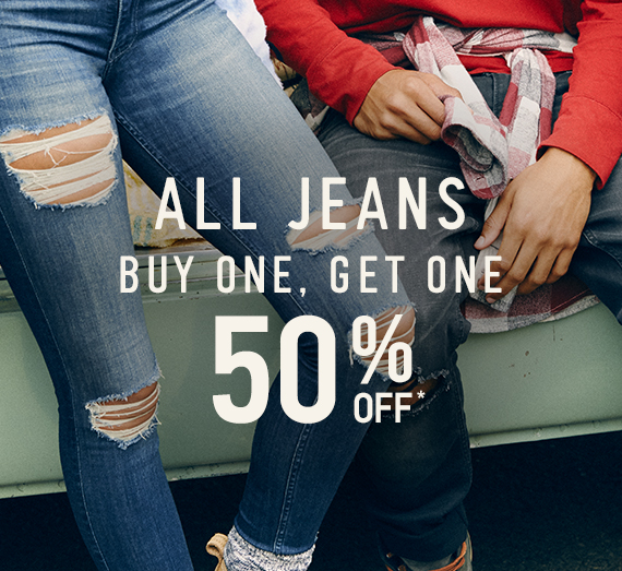 All Jeans Buy One, Get One 50% Off*