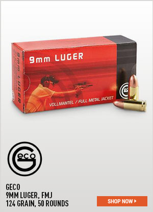 GECO, 9mm Luger, FMJ, 124 Grain, 50 Rounds