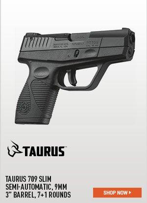 Taurus 709 Slim, Semi-Automatic, 9mm, 3 Inch Barrel, 7+1 Rounds