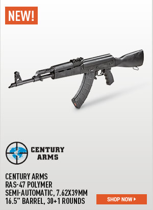 Century Arms RAS-47 Polymer, Semi-Automatic, 7.62x39mm, 16.5 Inch Barrel, 30+1 Rounds