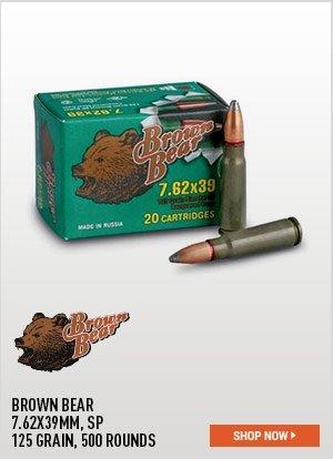 Brown Bear, 7.62x39mm, SP, 125 Grain, 500 Rounds