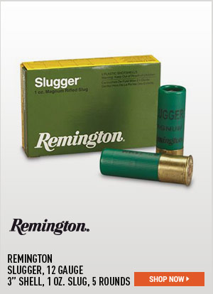 Remington, Slugger, 12 Gauge, 3 Inch Shell, 1 oz. Slug, 5 Rounds