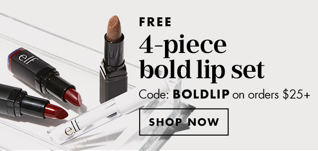 Free 4-Piece Bold Lip Set
