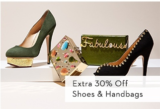 Extra 30% Off Shoes & Handbags