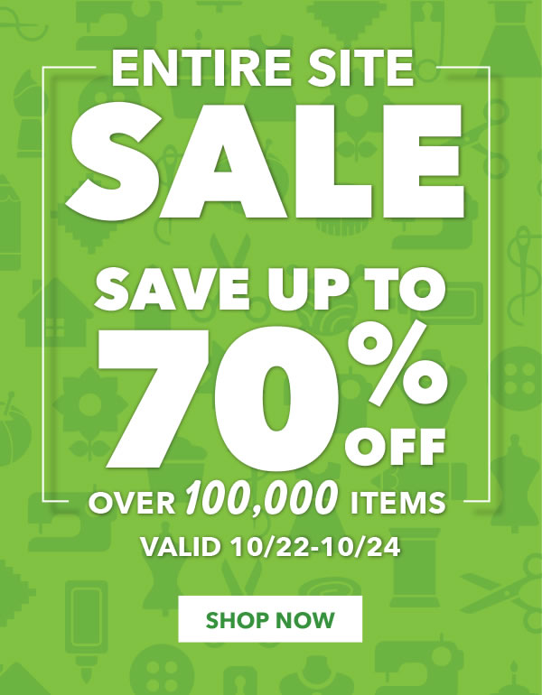 Entire Site Sale. Save on over 100,000 items. Valid 10/22-10/24.