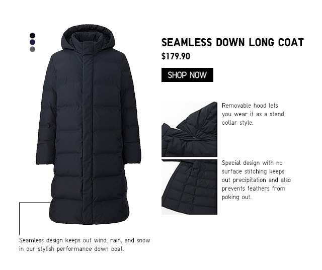 Men Seamless Down Long Coat $179.90