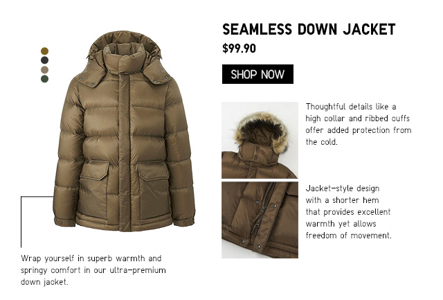 Men Seamless Down Jacket $99.90
