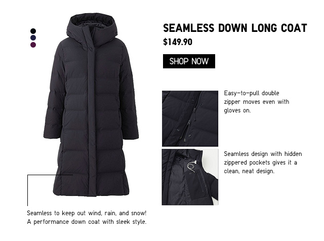 Women Seamless Down Long Coat $149.90 - Shop Now