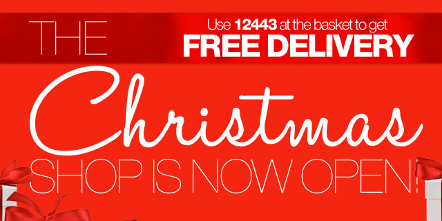 THE Christmas Shop is now open! Use 12443 at the basket to get FREE DELIVERY