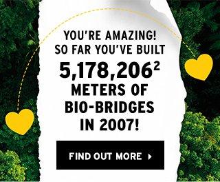 5,178,206 square meters of Bio-bridge