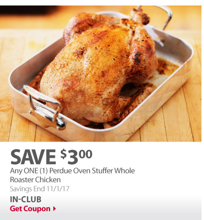 Any ONE (1) Perdue Oven Stuffer Whole Roaster Chicken