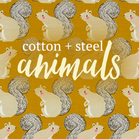 Cotton + Steel Animals