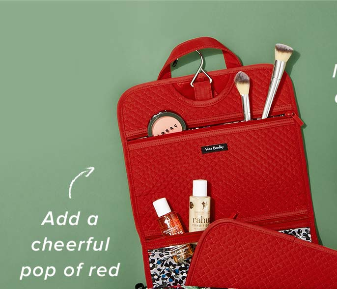 Iconic Hanging Travel Organizer in Cardinal Red