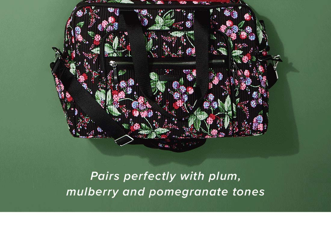 Iconic Deluxe Weekender Travel Bag in Winter Berry