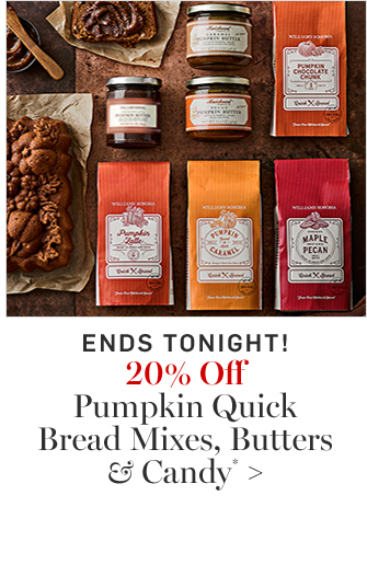 20% Off Pumpkin Quick Bread Mixes, Butters & Candy*