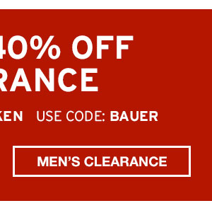 EXTRA 40% CLEARANCE | SHOP MEN