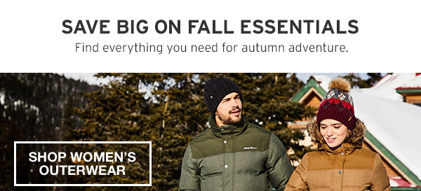 SAVE BIG ON FALL ESSENTIALS | SHOP WOMEN'S OUTERWEAR