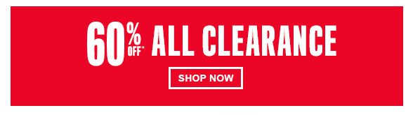 60% Off All Clearance